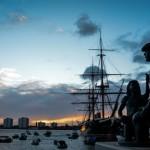 HMS_Warrior_sunset 2